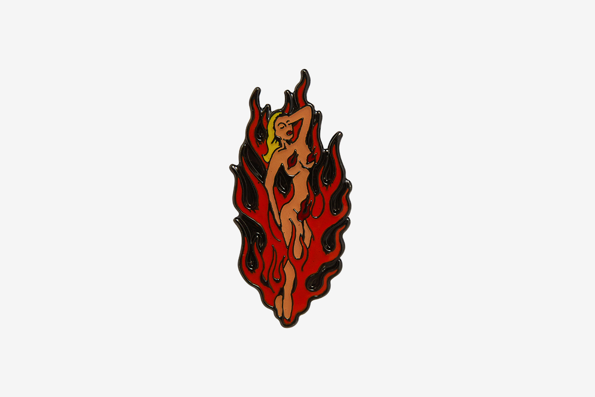 Fire Girl Pin