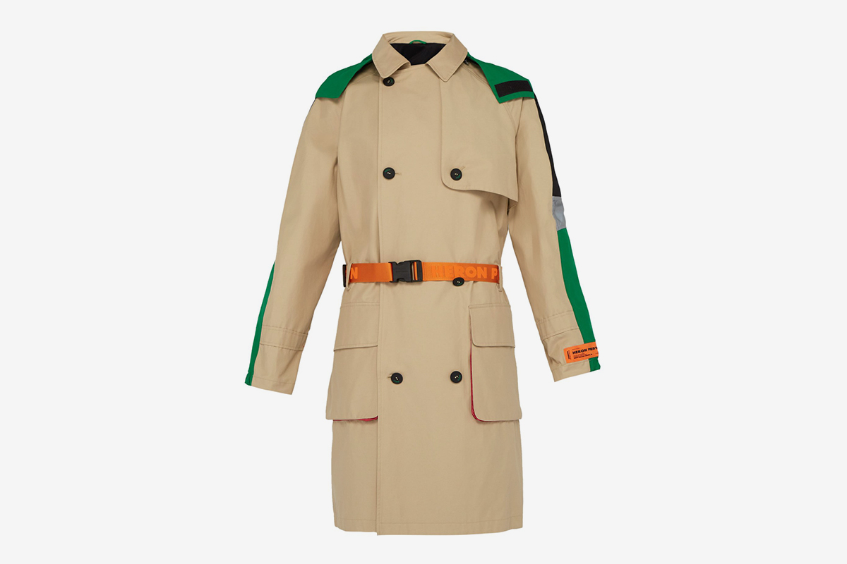 Belted Cotton-blend Trench Coat