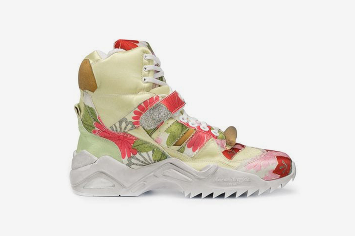 Floral High Top Sneaker