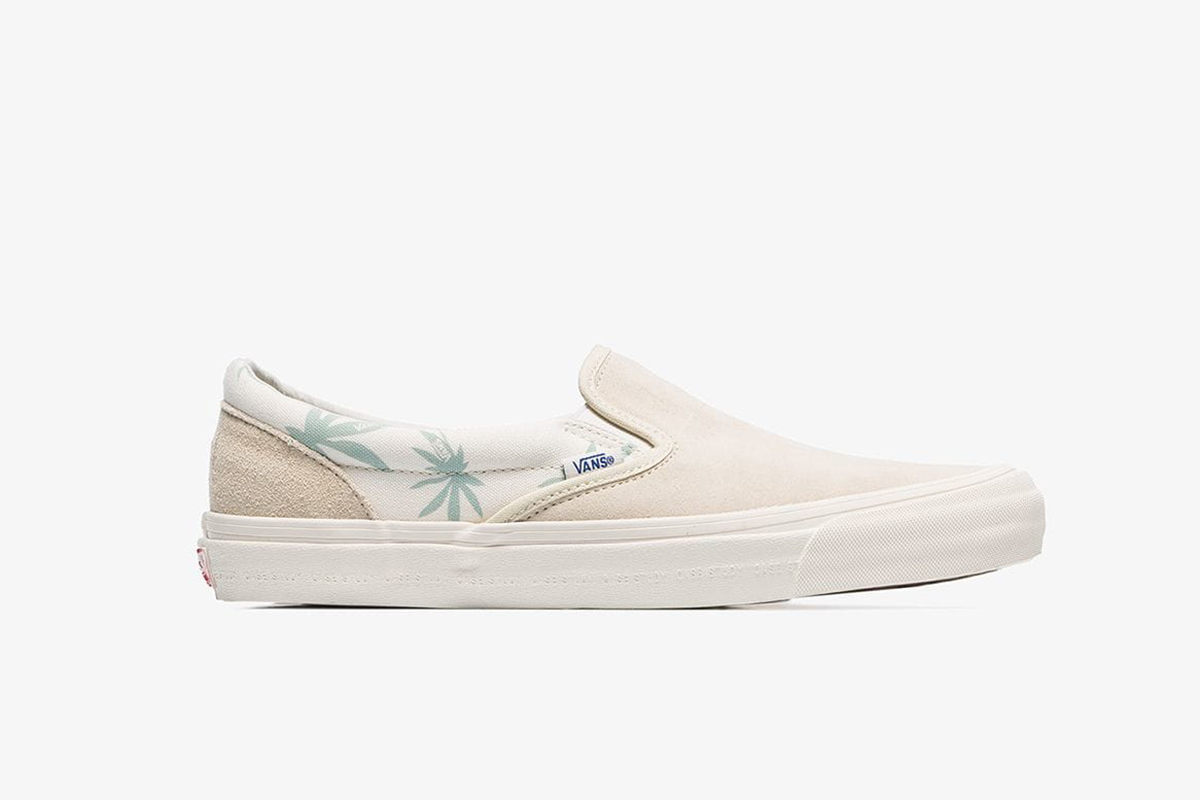 Slip-On Palm Print Sneakers