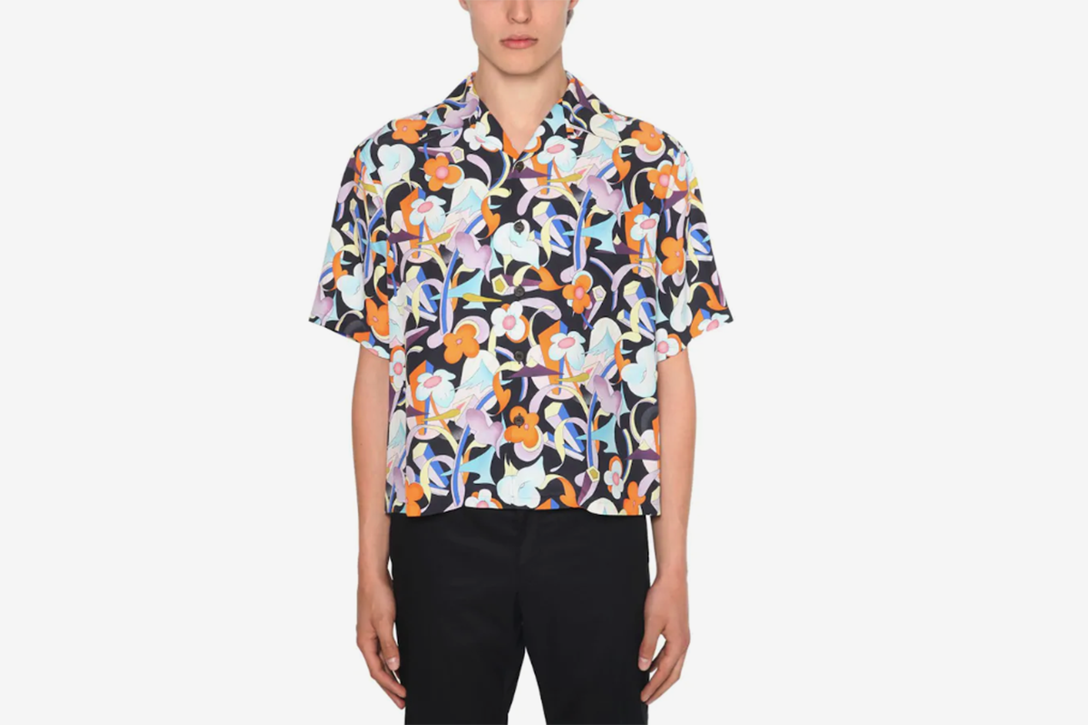 Flower Print Bowling Shirt