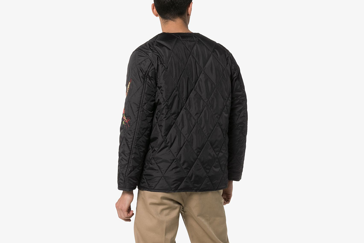 Dragon Embroidered Quilted Jacket
