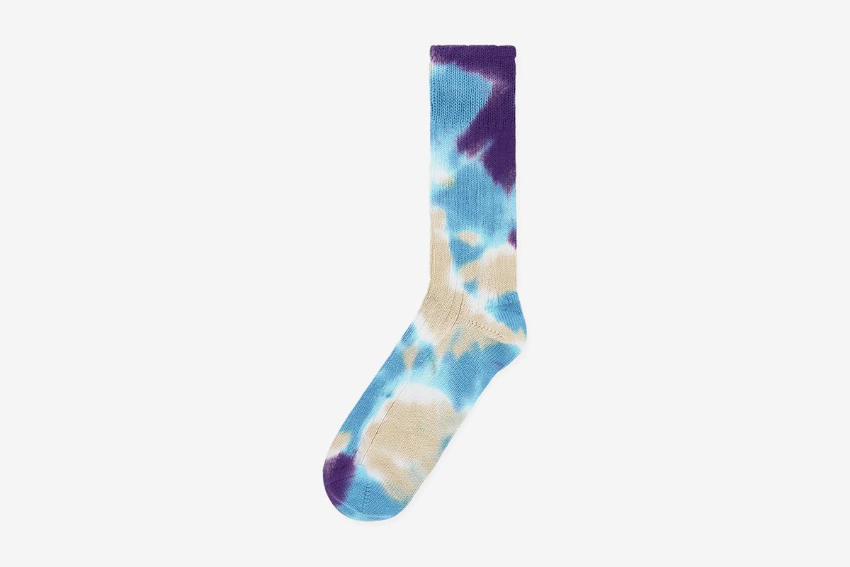 Tie Dye Socks Blue