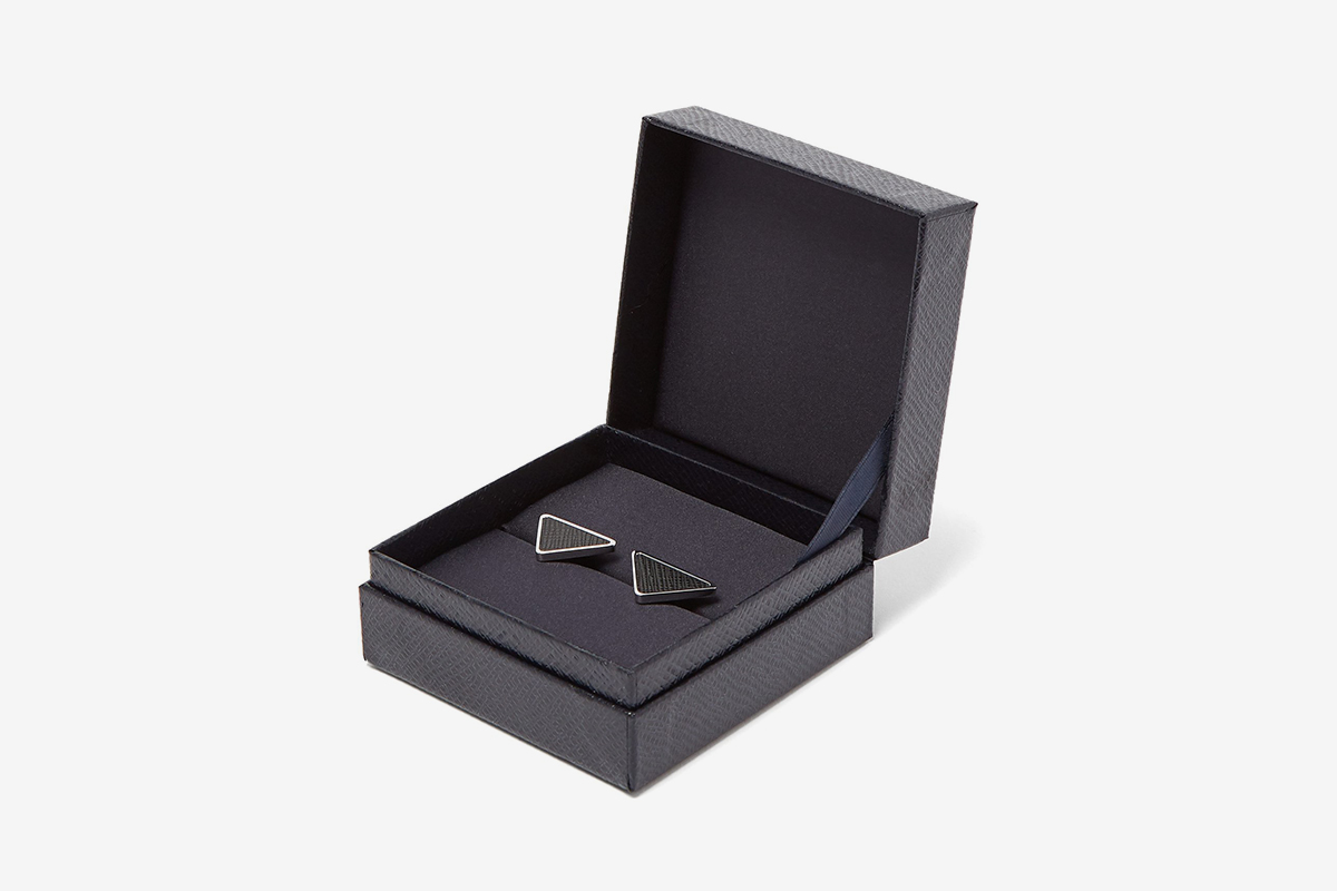 Saffiano Leather Cufflinks