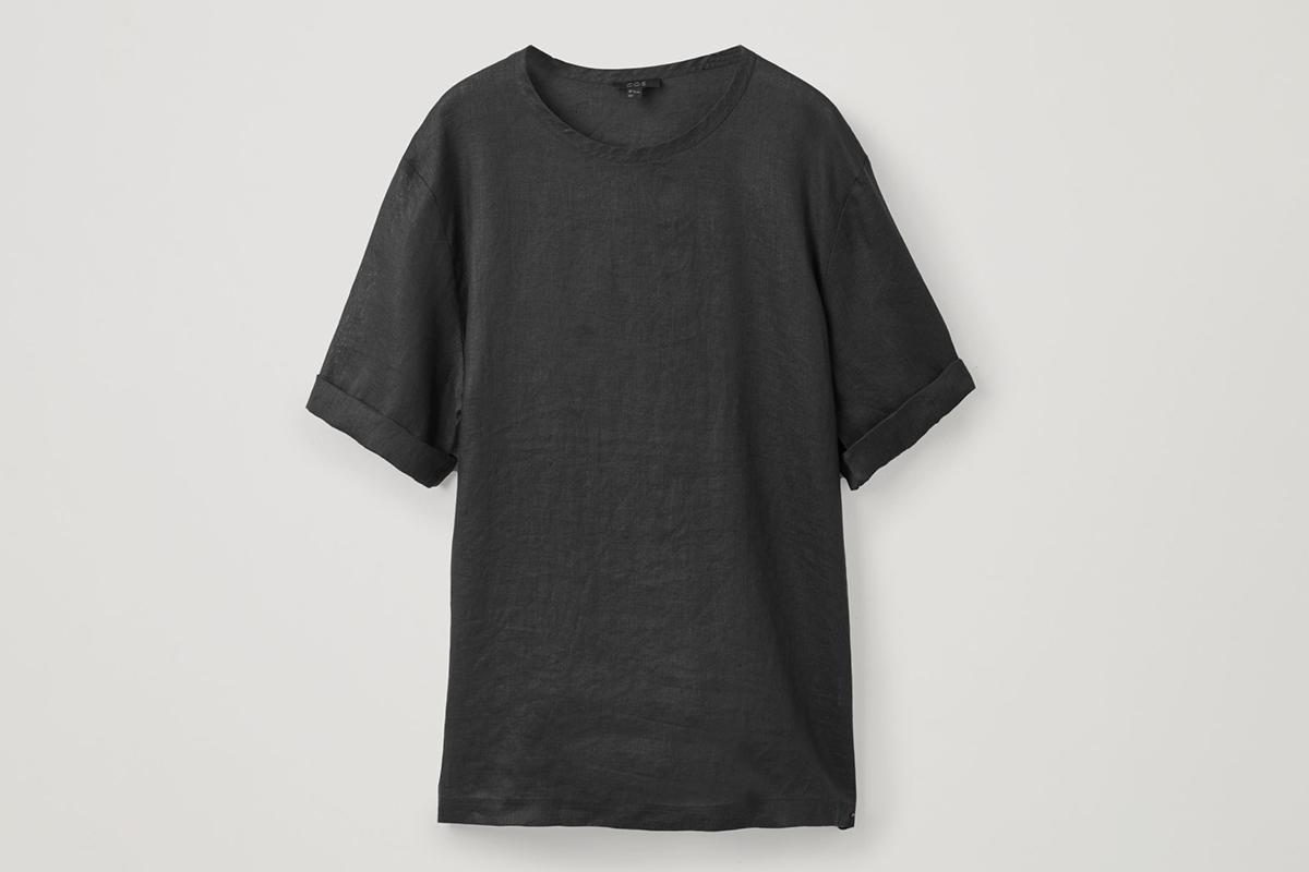Oversized Linen T-Shirt