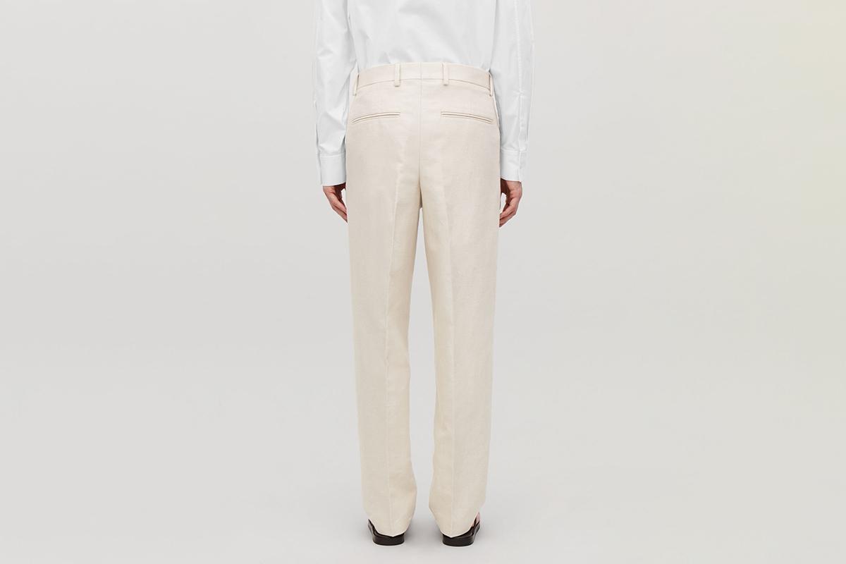 Straight-Leg Linen Trousers