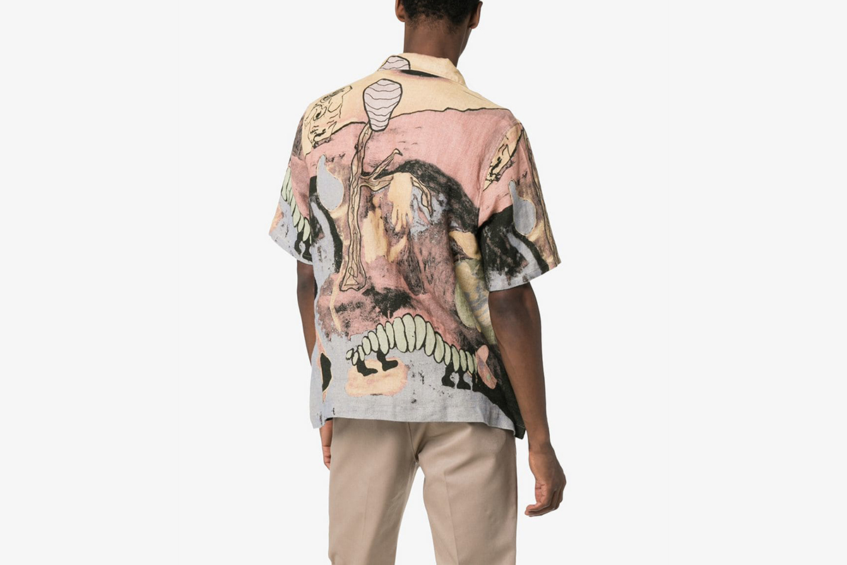 Boxy Fit Short-Sleeved Linen Shirt