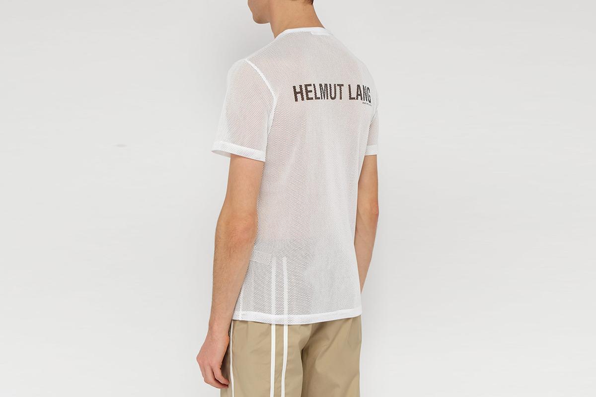 Logo Print Mesh T-shirt