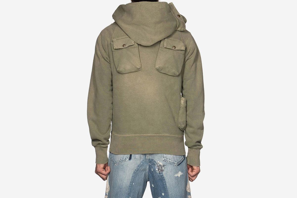 Fleecy Knit Alpine Hooded SWT
