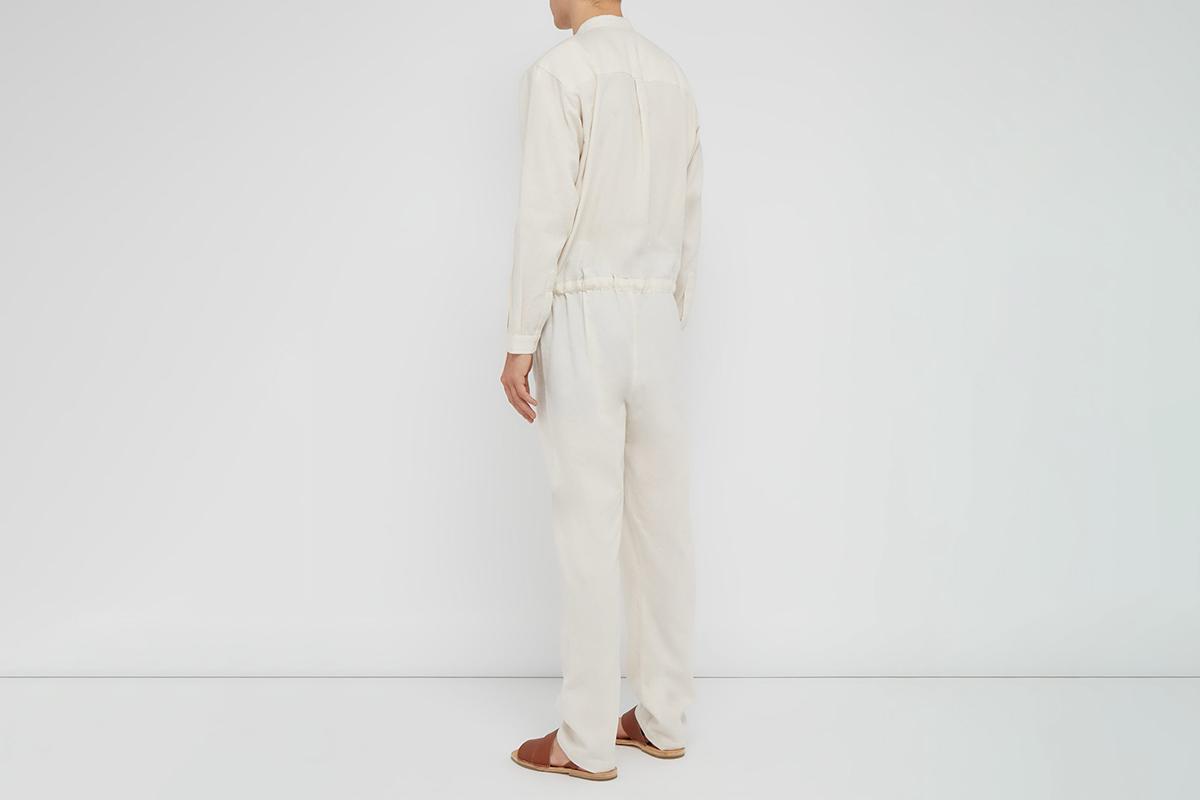 Nero Drawstring Waist Cotton Blend Jumpsuit