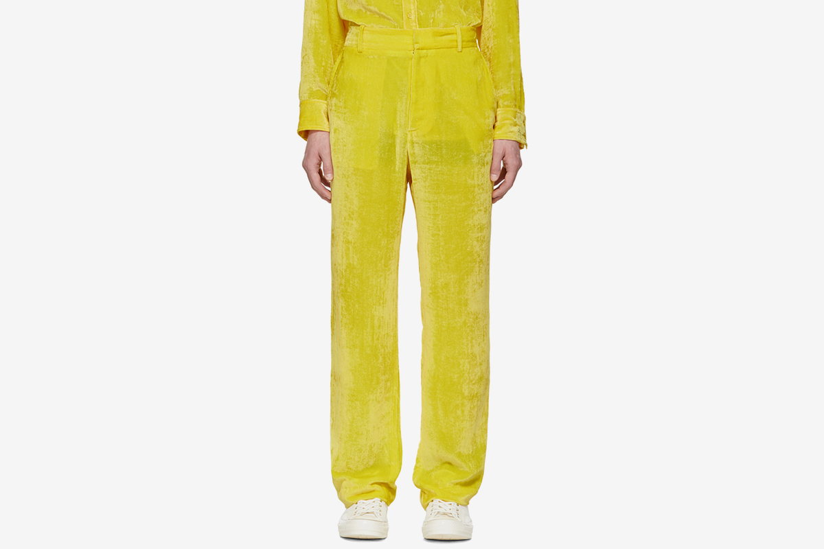 SSENSE Exclusive Velvet Cord Toby Trousers
