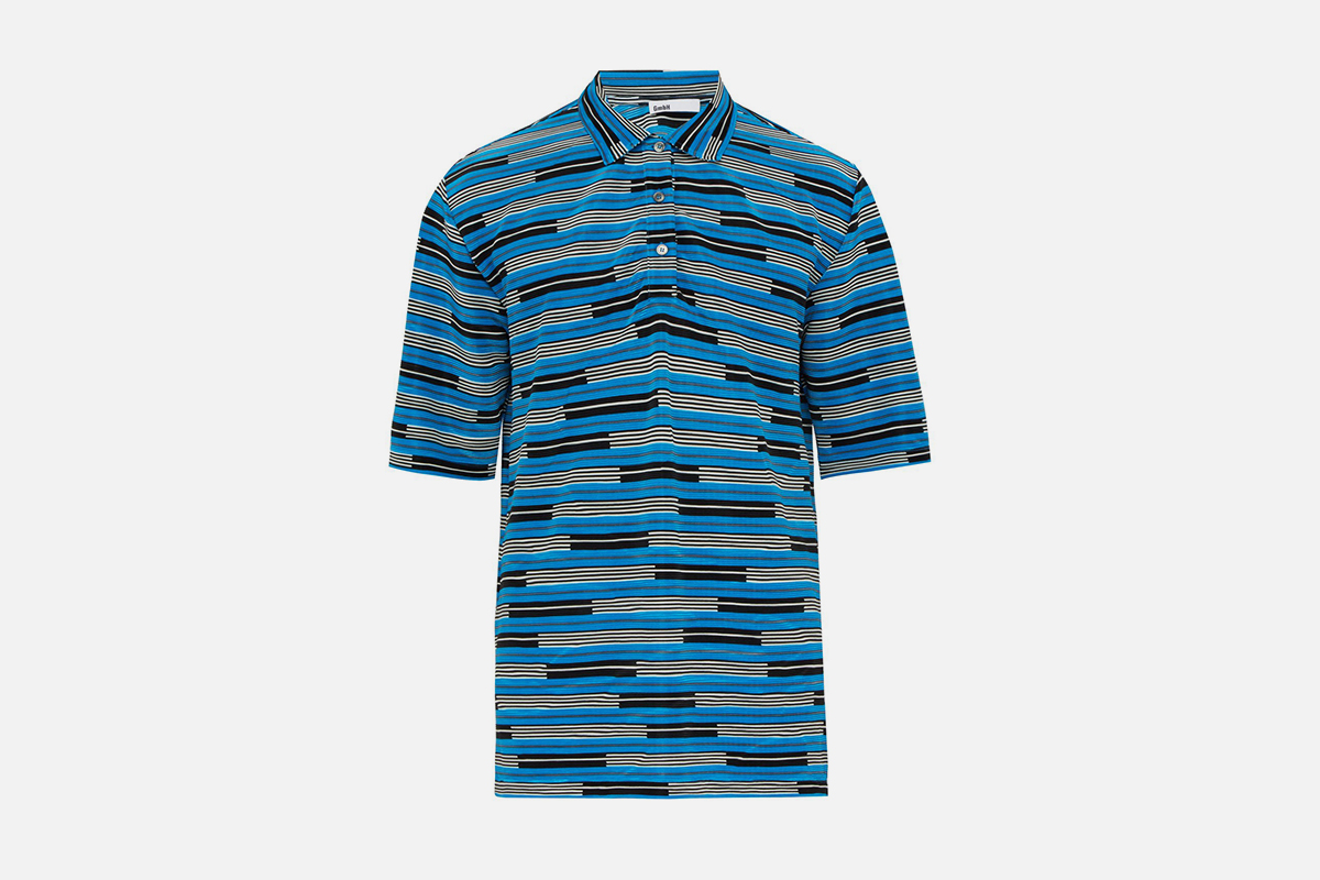 Plissé Polo Shirt