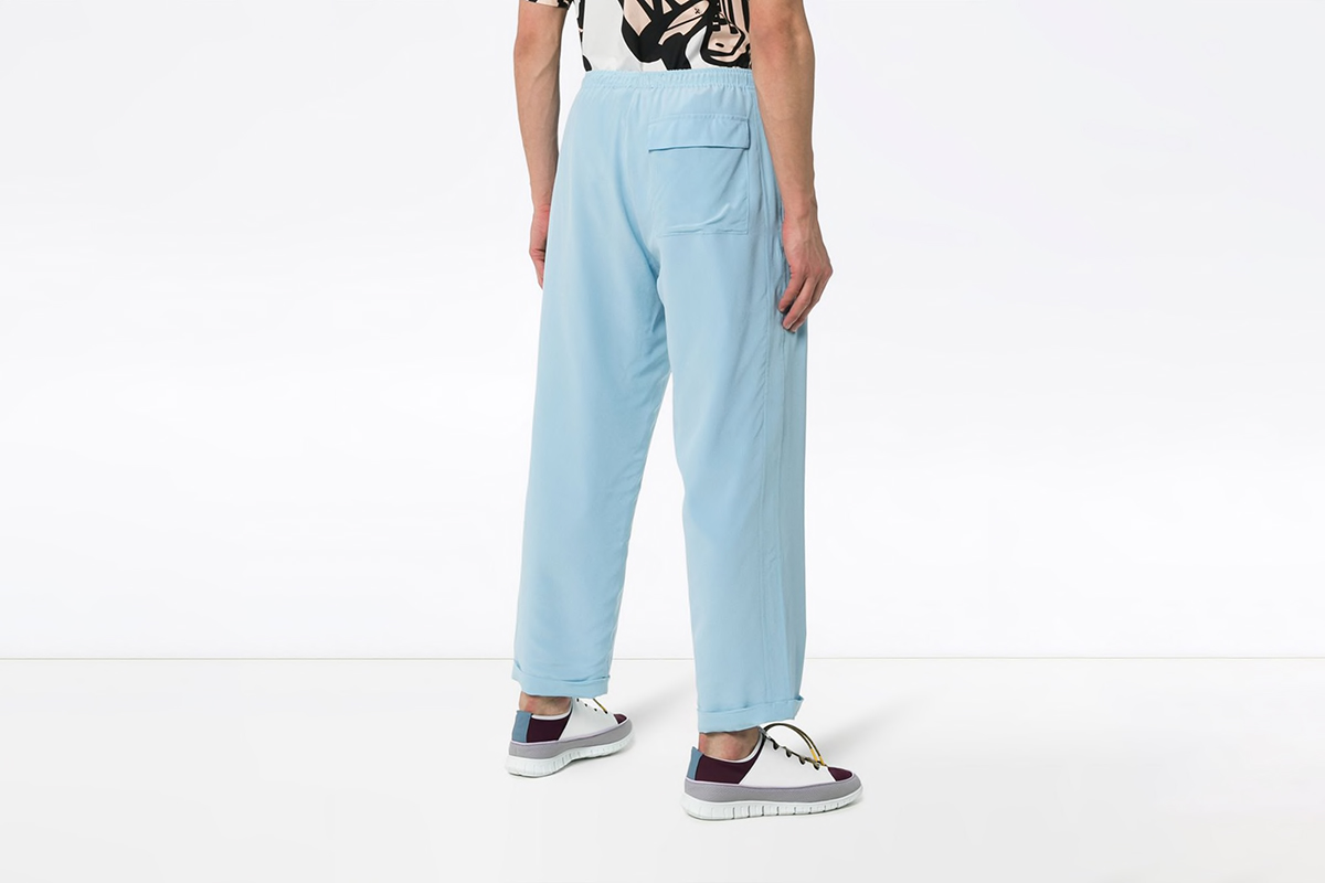 Wide Leg Silk Trousers