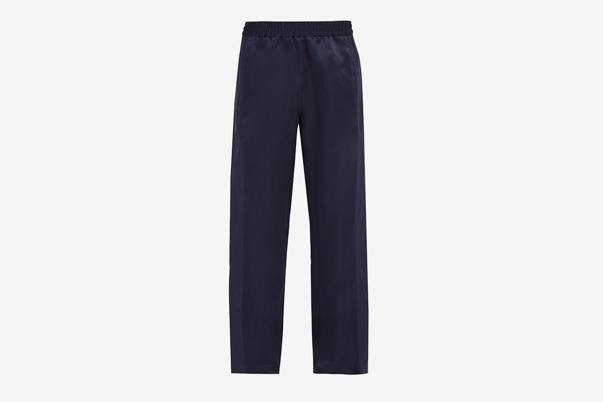 Break Silk Satin Trousers