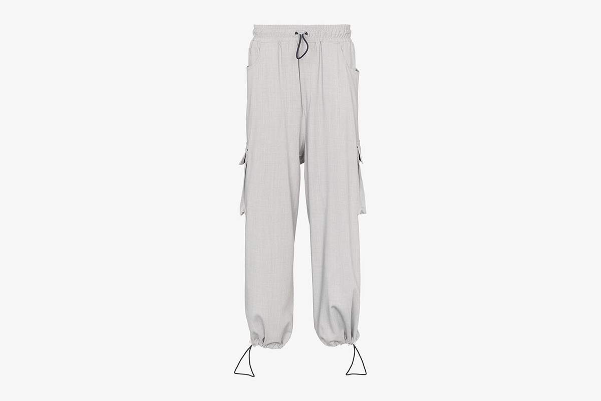 Loose Fit Cargo Pocket Drawstring Trousers