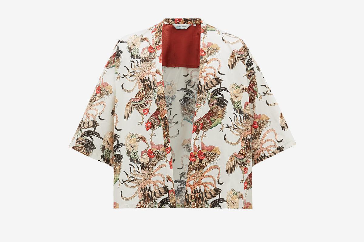 Haori Gamecock Cotton Kimono