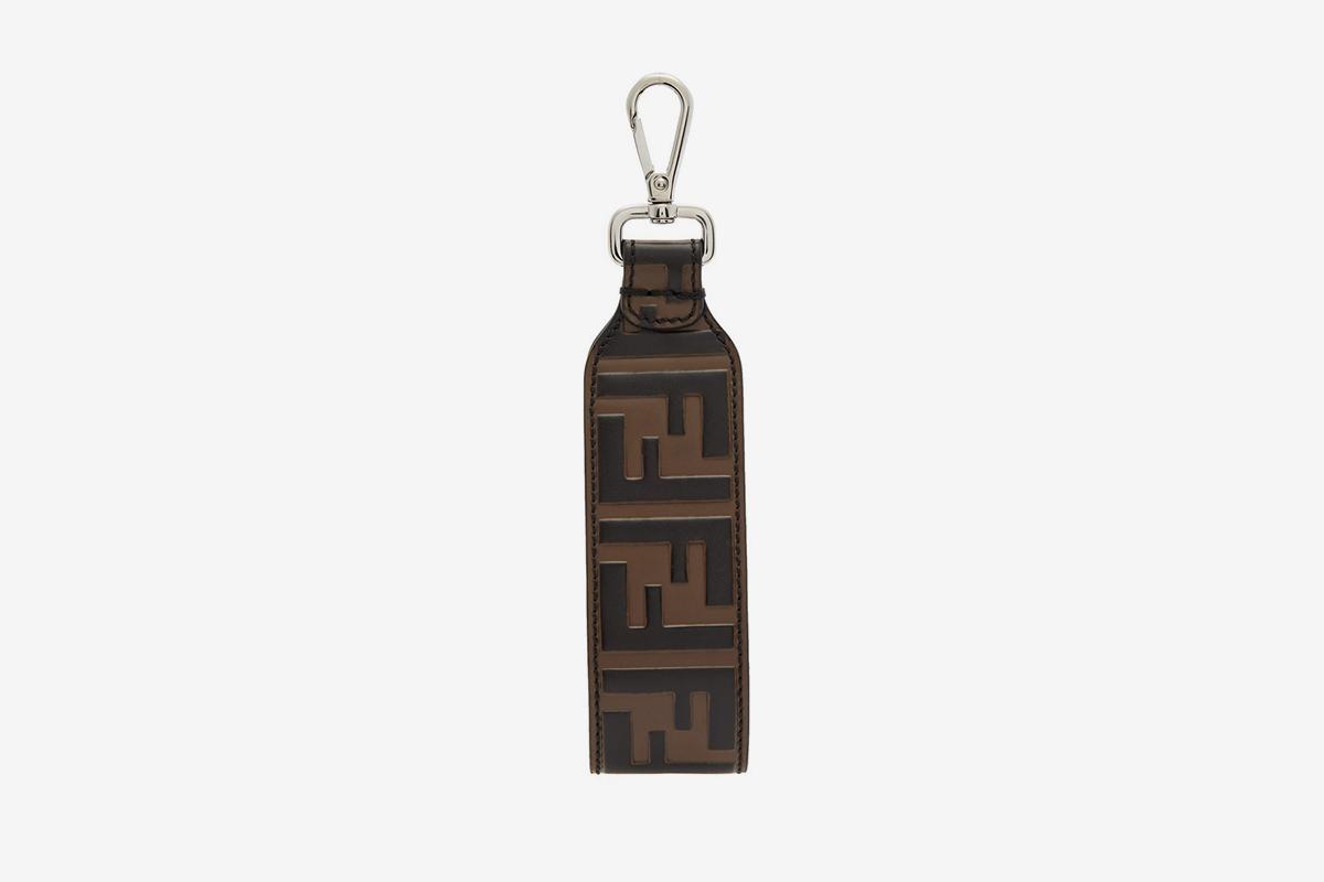 Logo-Embossed Leather Key Ring