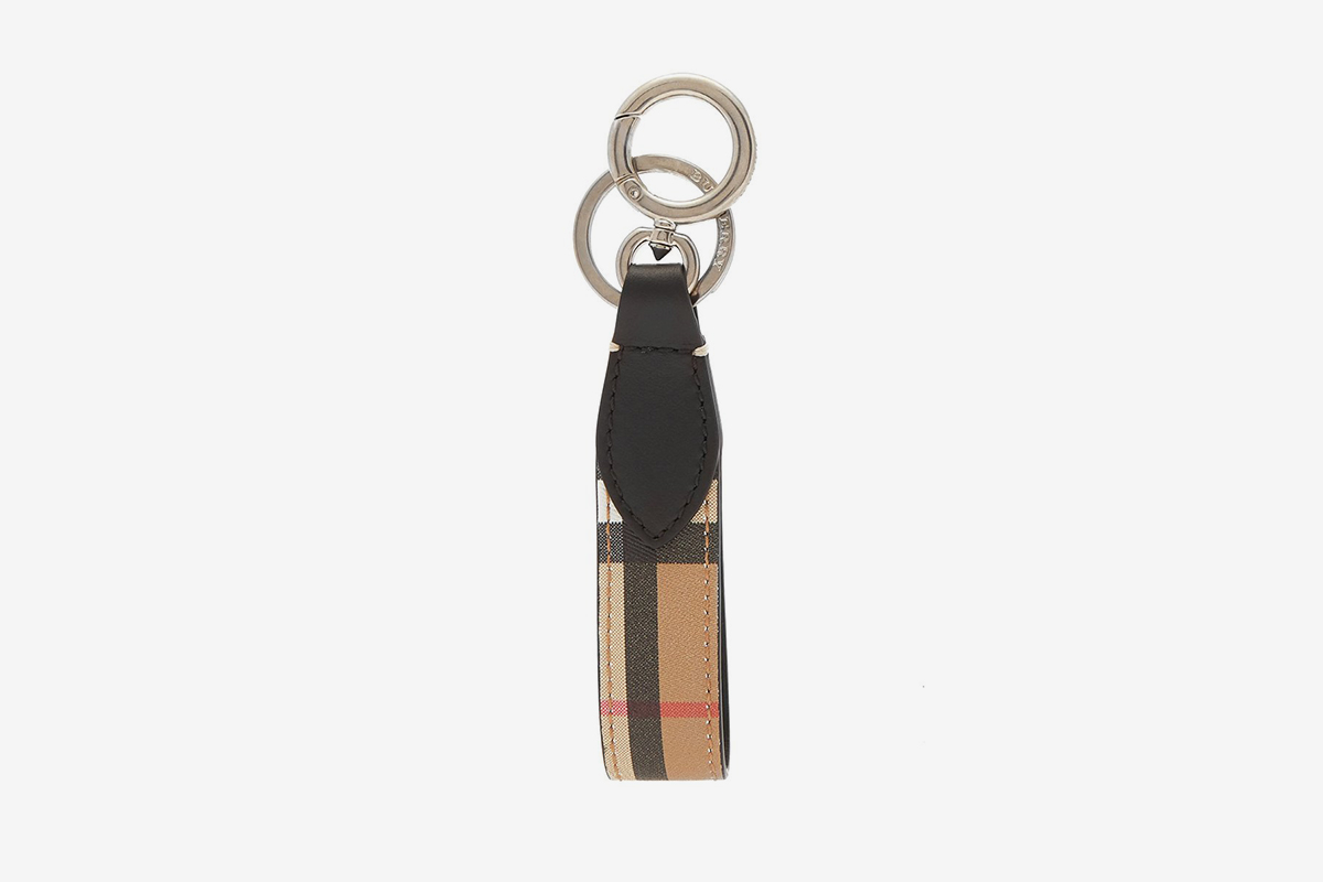 Vintage Check Leather Key Ring