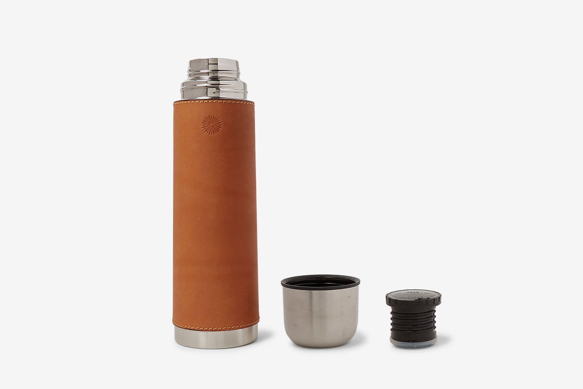 Leather & Steel Flask