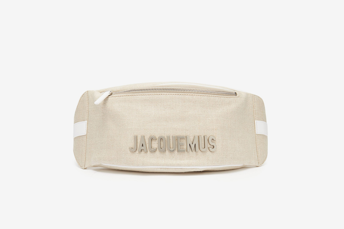La Banane Logo-Plaque Linen Belt Bag