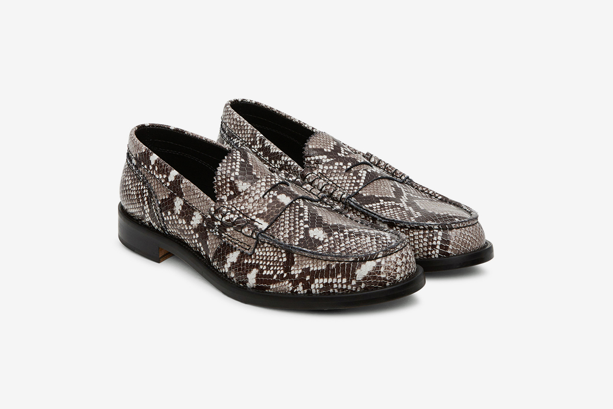 Python Loafers Grey