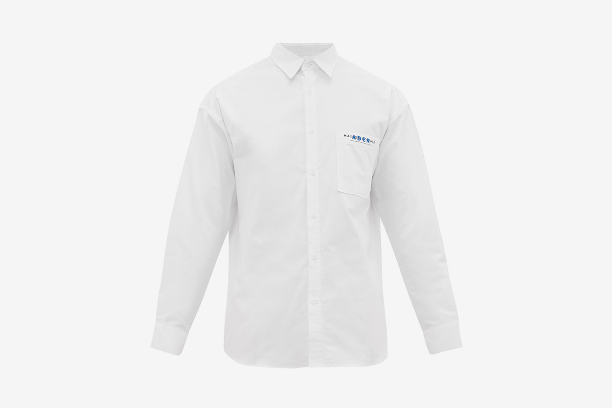 Dual Branded Cotton Twill Shirt