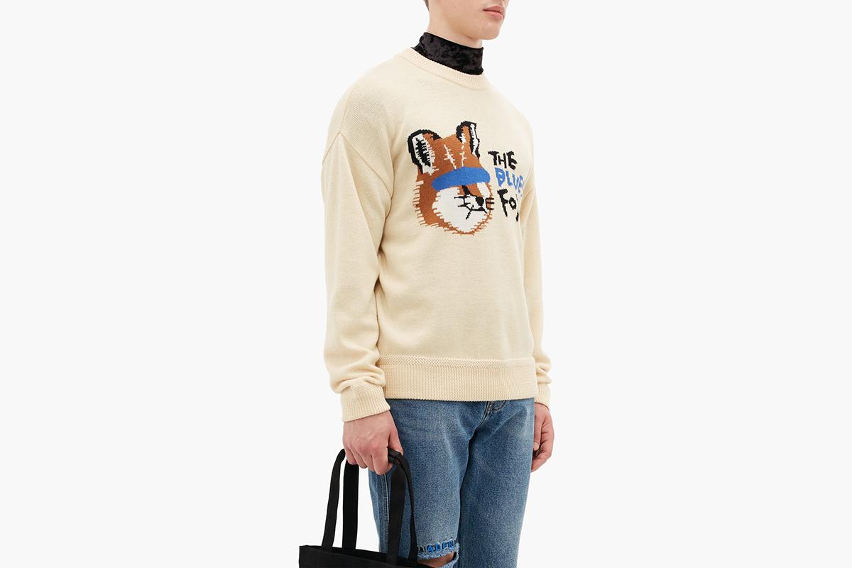 Fox Intarsia Wool Sweater
