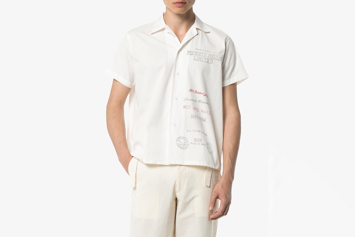 Linen Mill Print Bowling Shirt