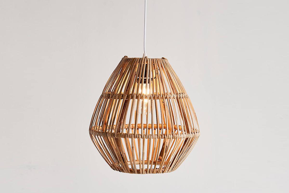 Bamboo Woven Pendant Light