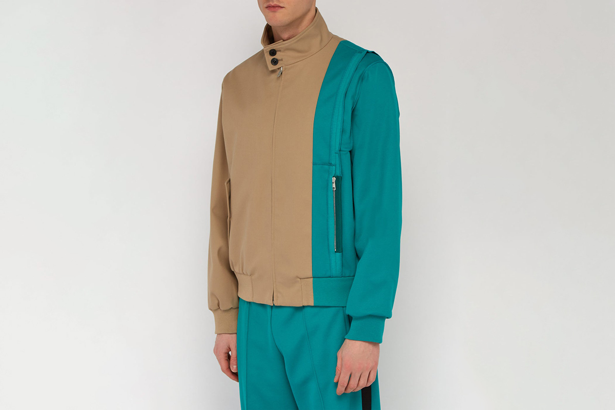 Deconstructed Cotton-Blend Harrington Jacket