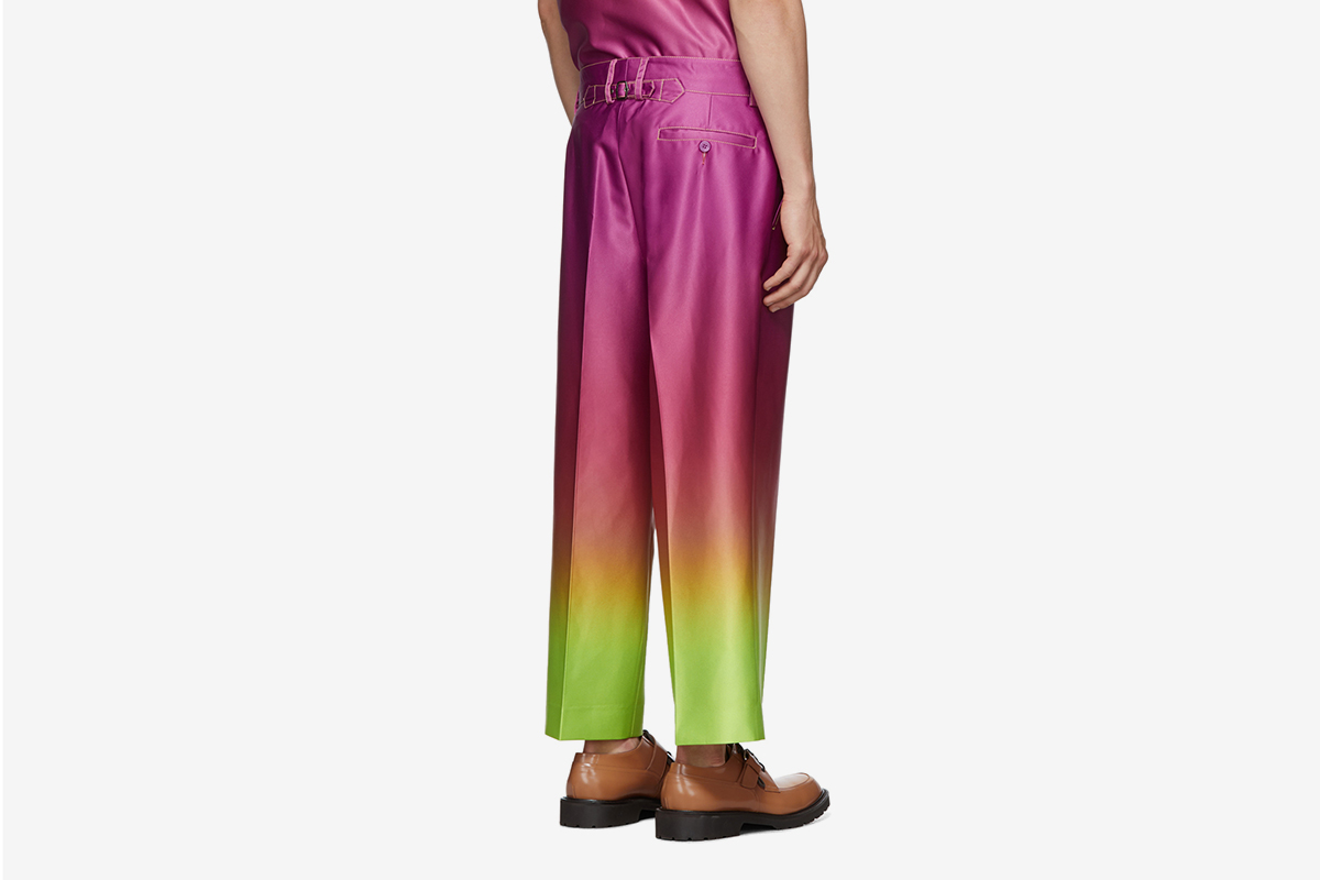 Alex Degrade Cropped Trousers