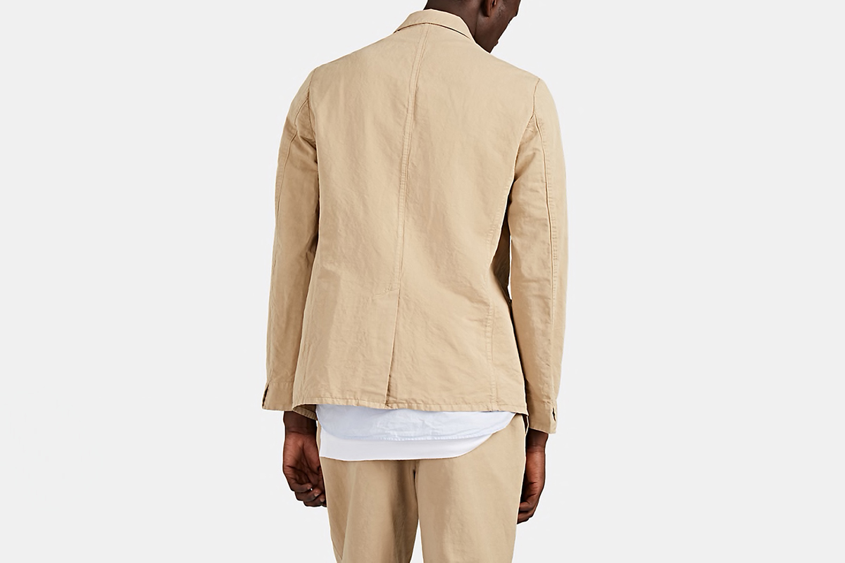Cotton-Linen Twill Two-Button Sportcoat