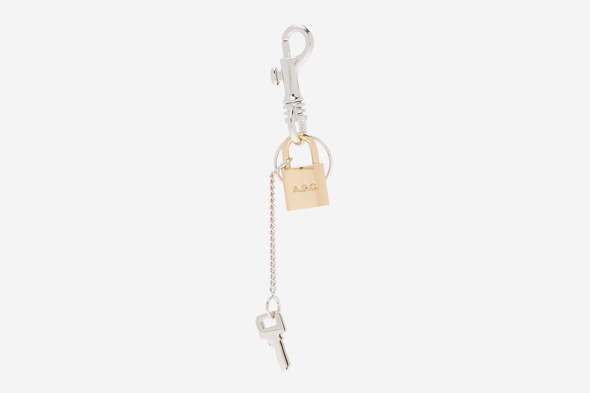 Brody Lock & Key-Charm Key Ring