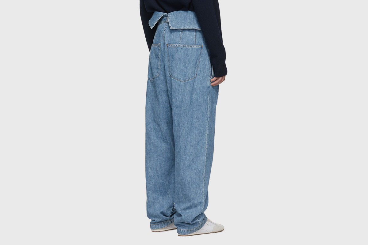 Belted Pleated Jeans