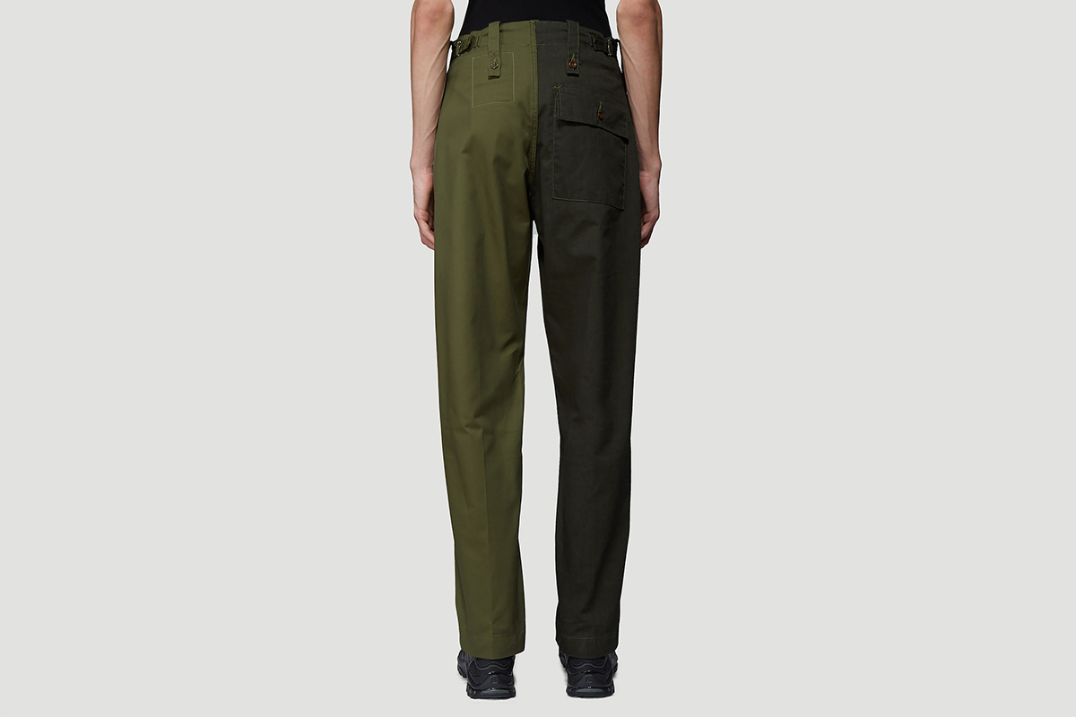 Two-Tone Split Trousers