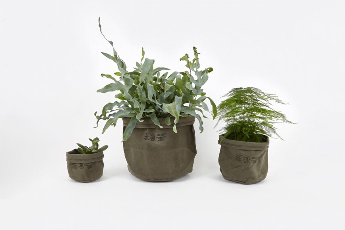 Canvas Pot Cover Set Of Three