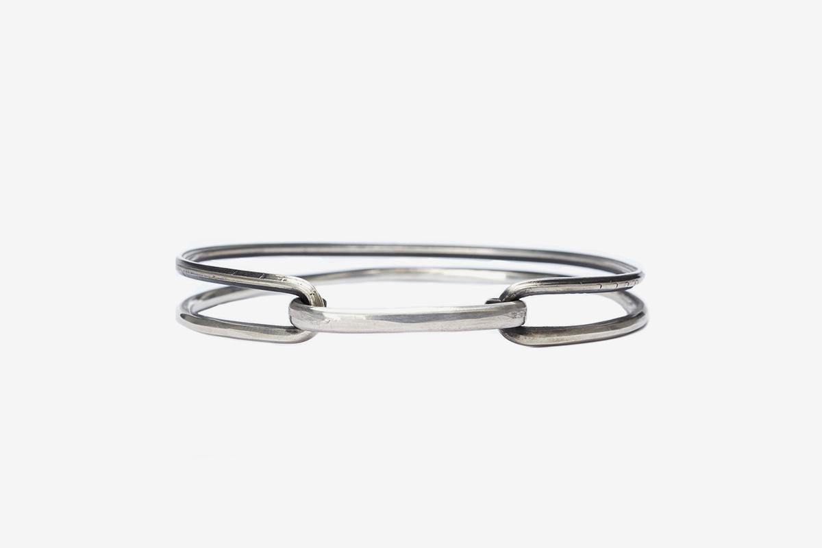 Silver Crossover Bracelet