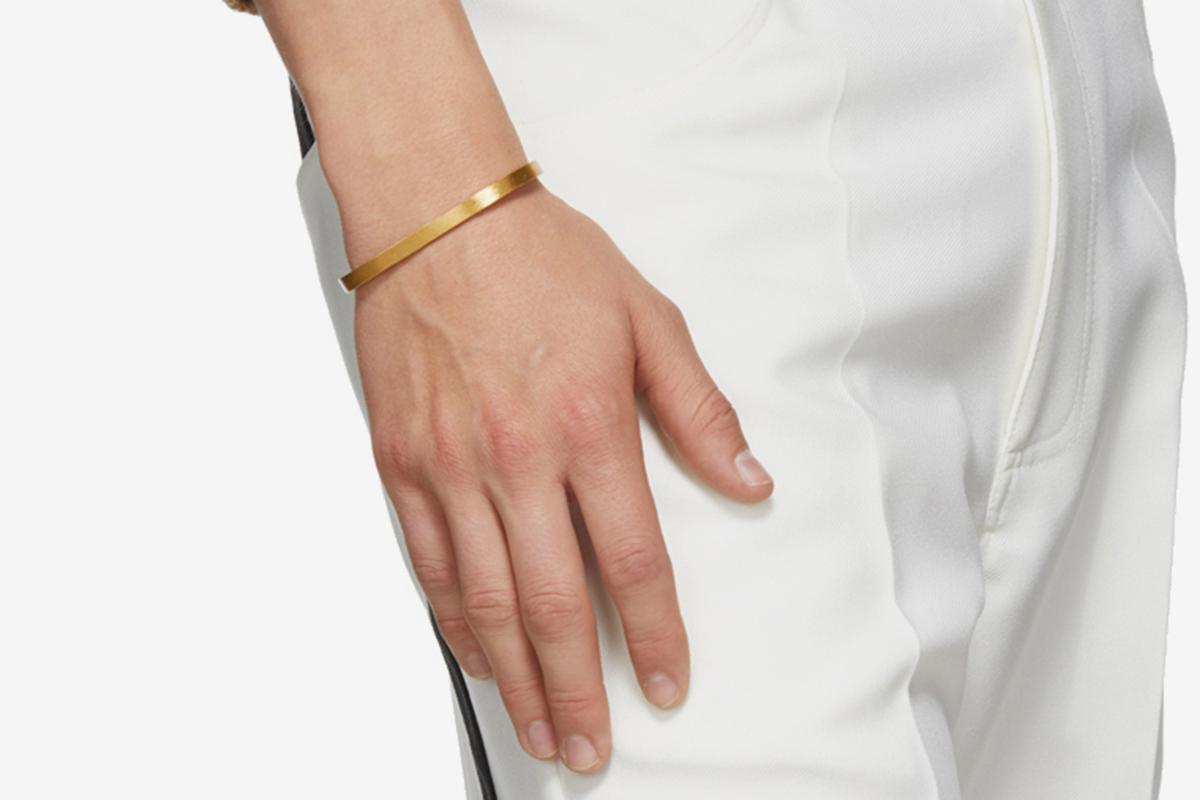 Gold Brushed Rectangle Bracelet