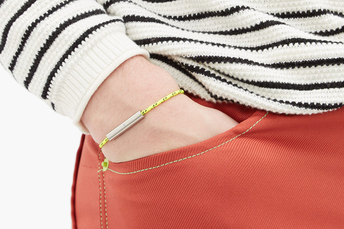 Charlie Stainless-Steel and Cord Bracelet