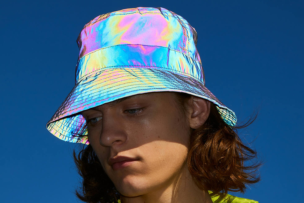 Iridescent Nylon Bucket Hat