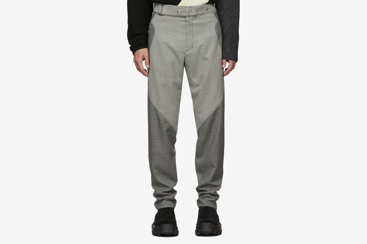 Wool Rope Check Trousers
