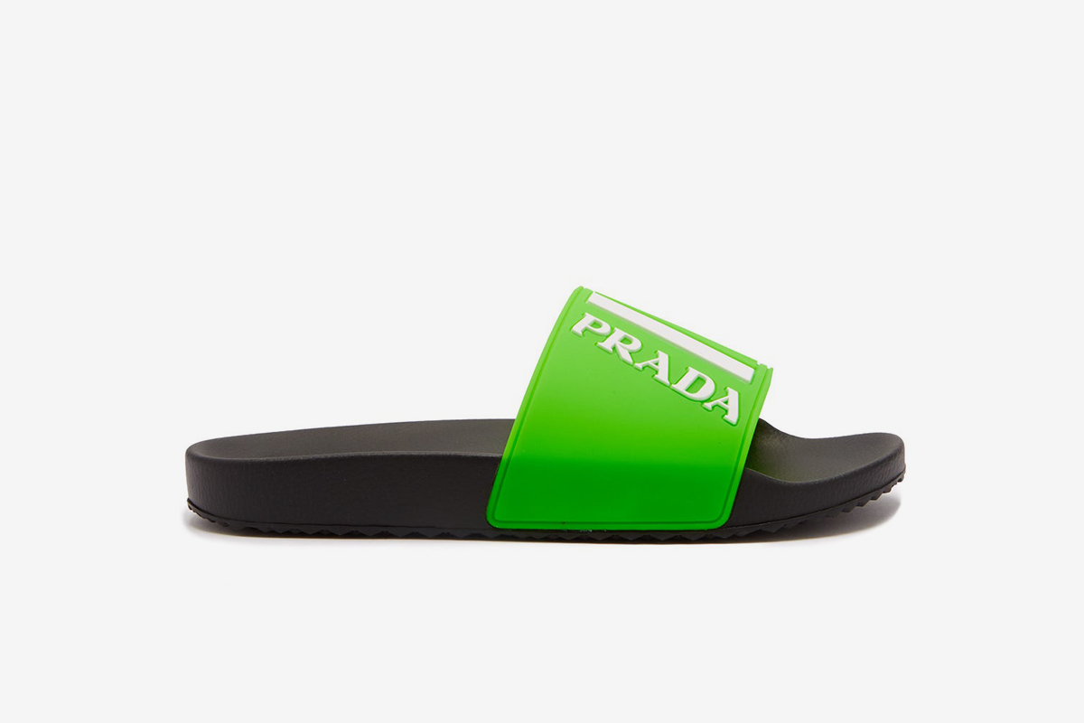 Logo-embossed Rubber Slides