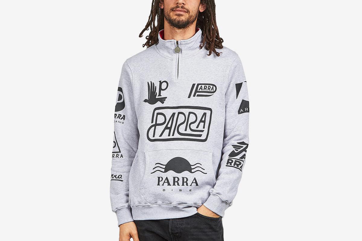 Sponsored Quarter Zip Sweater