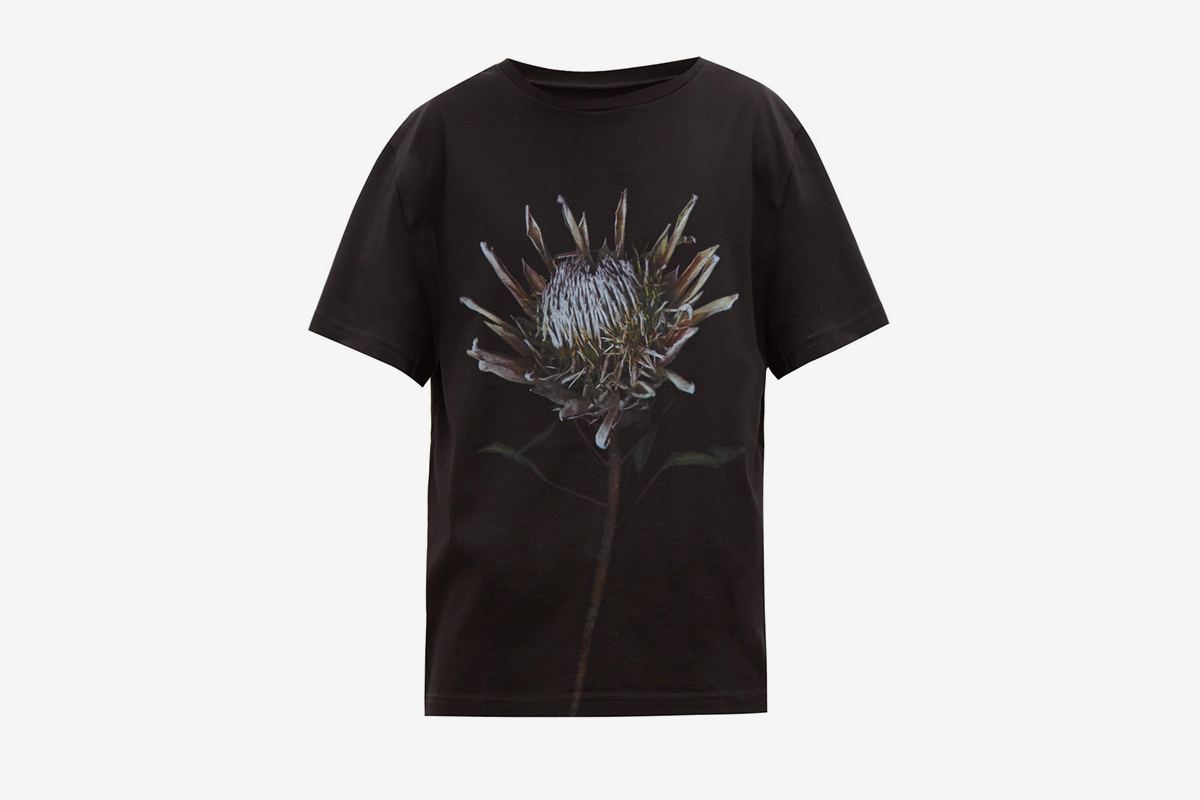 Thistle Print Cotton T-Shirt