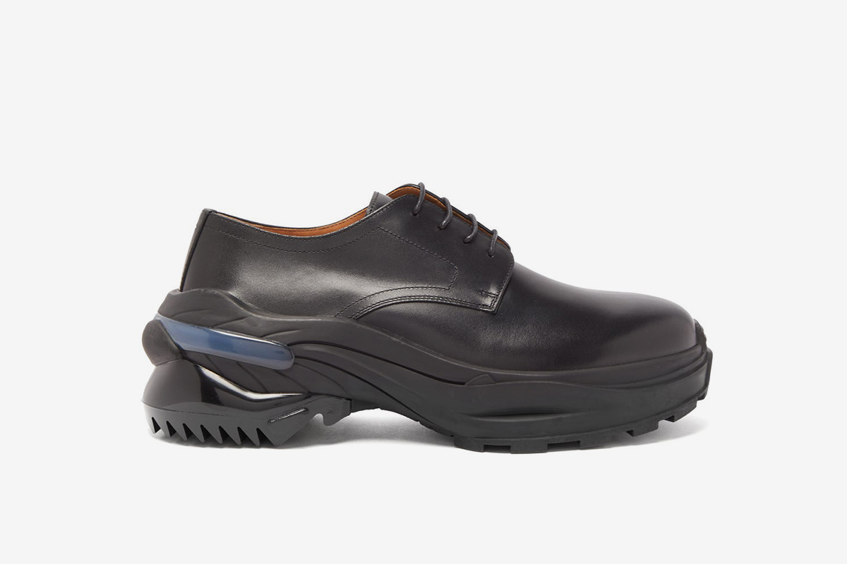 Cross Exaggerated Sole Leather Derby Shoes