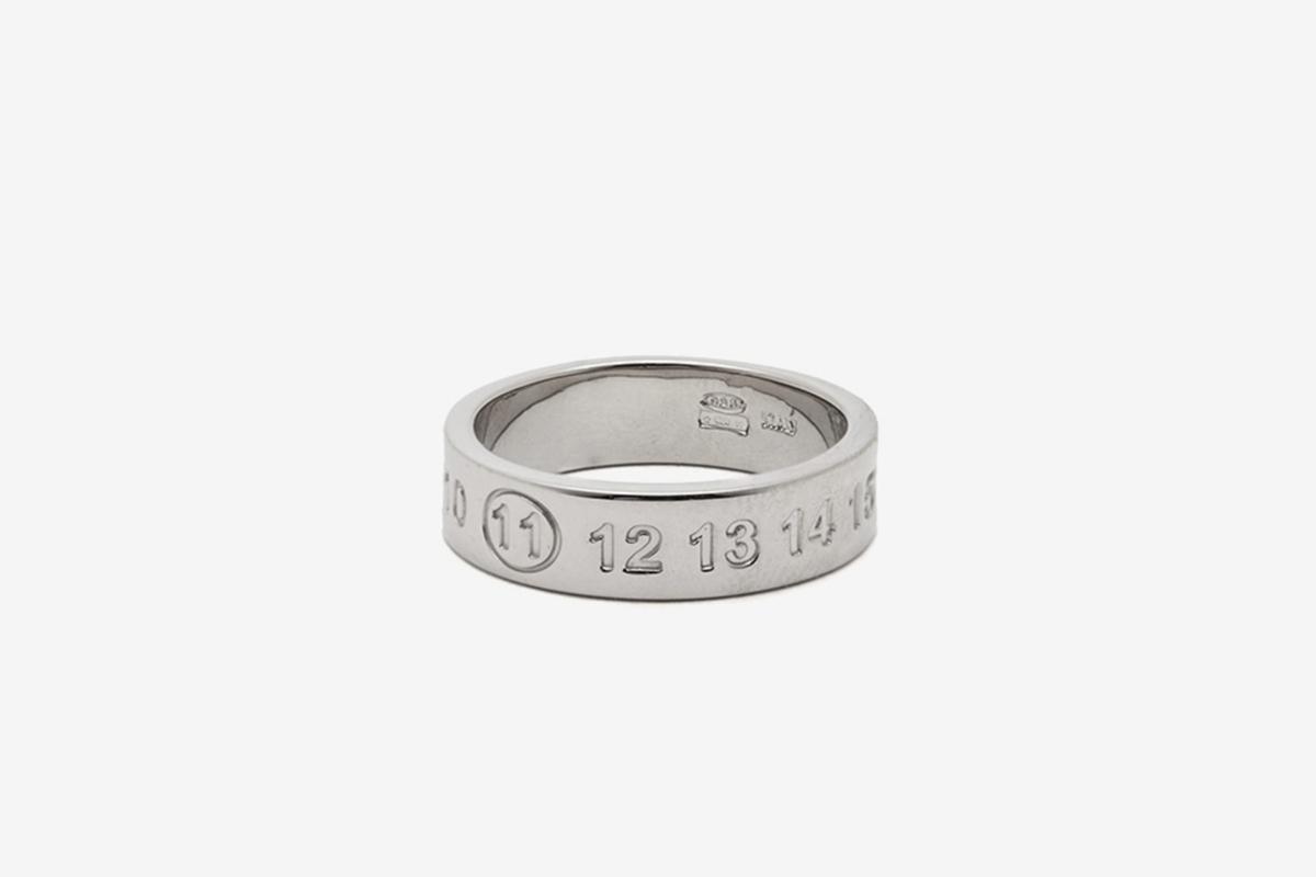 11 Debossed Sterling Silver Ring