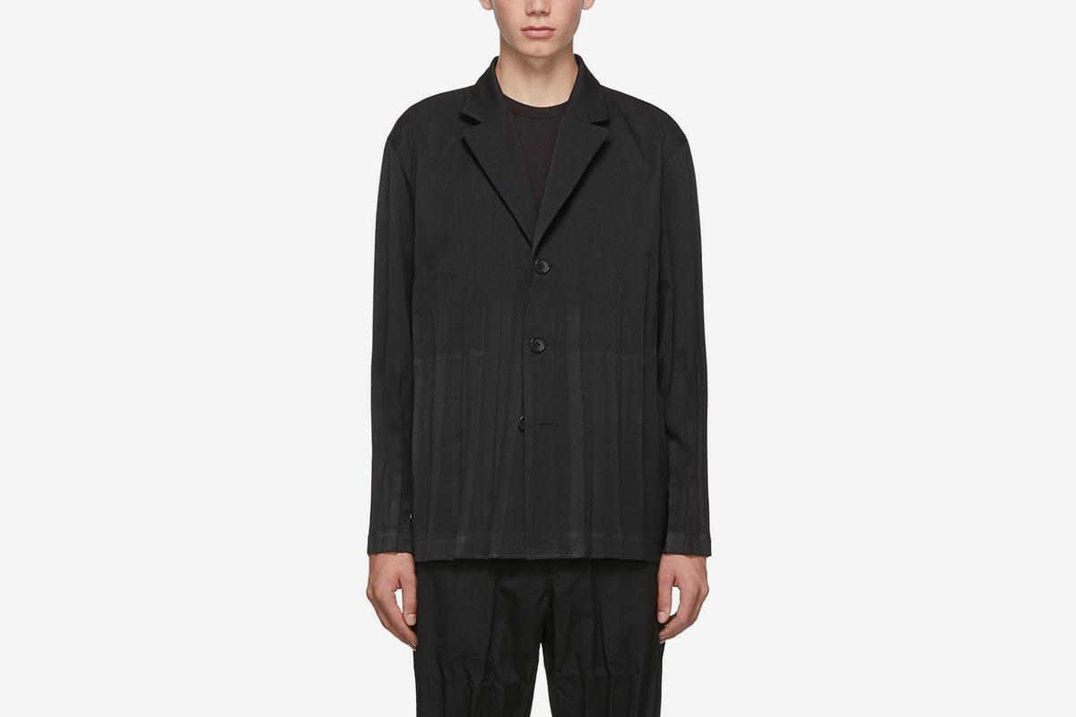 Wool Wrinkle 3-Button Blazer