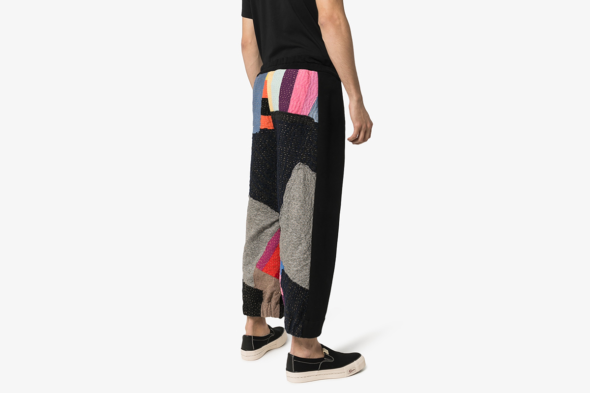 Patchwork Tapered Trousers