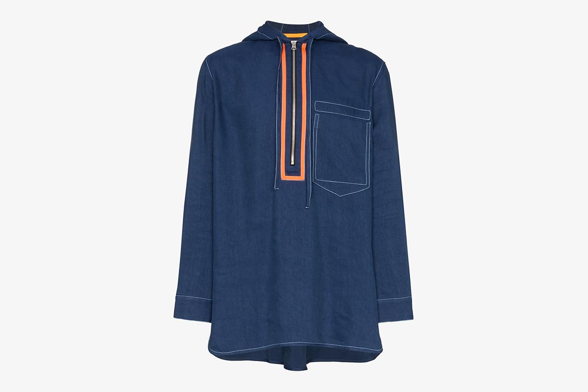 Hooded Half-zip Jacket