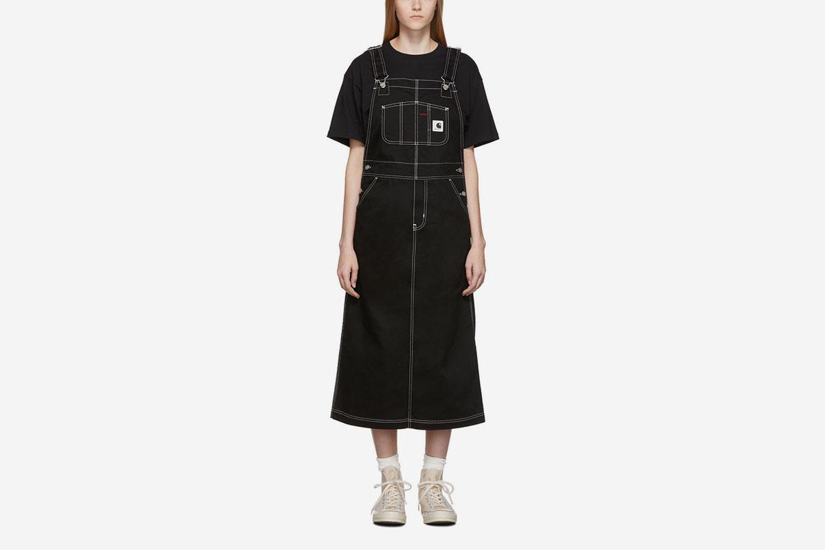 Bib Long Overall Dress
